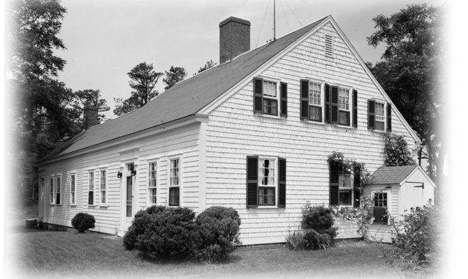 Cape Cod Colonial House Plans One Story Plan Attic Spacious Side