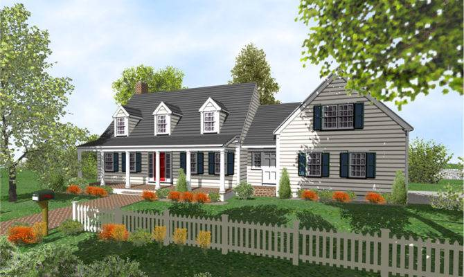 Cape Cod Story Home Plans Sale Original