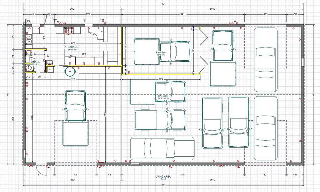 Car garage workshop layout motordb home building plans Garage layout planner
