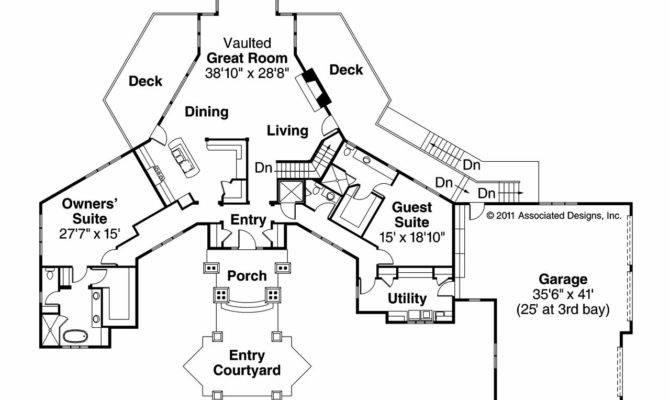 Chalet House Plan Barrett Main Floor