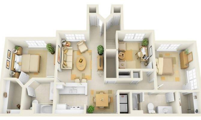 Cheap Bedroom House Plan Pinterest