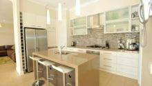 Classic Galley Kitchen Design Using Frosted Glass