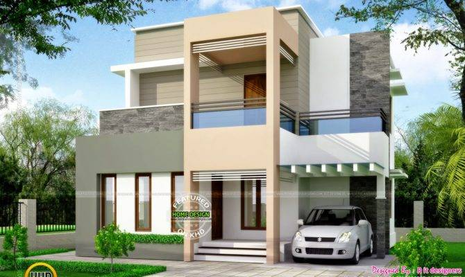 Clean Box Type House Exterior Kerala Home Design Floor Plans
