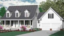 Colonial Cottage Story Design Three Bedrooms