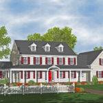 Colonial Houses Plans Design Bookmark