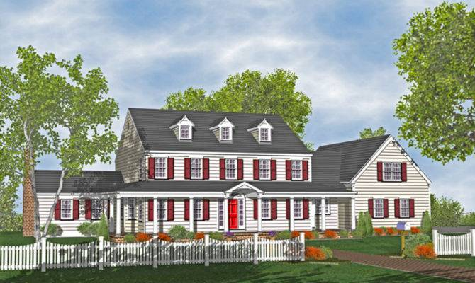 Colonial Houses Plans Design Bookmark