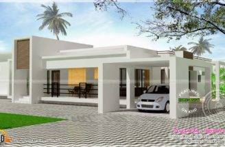 Contemporary Single Storied Luxury Home Kerala Design Floor