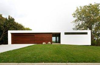 Contemporary Stucco Wood House