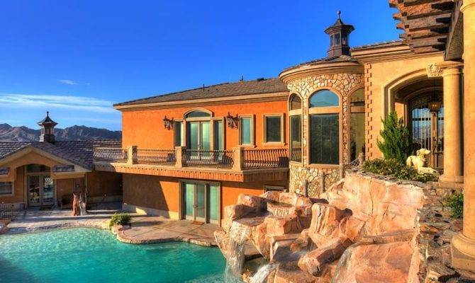 Cool Houses Pools Waterfall House