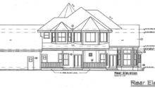 Cottage Southern Traditional Victorian House Plan Rear Elevation