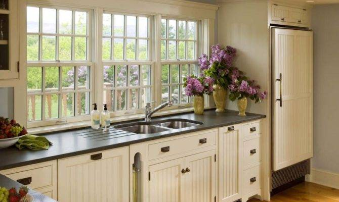 Country Kitchen Designs Unique Features Charming White