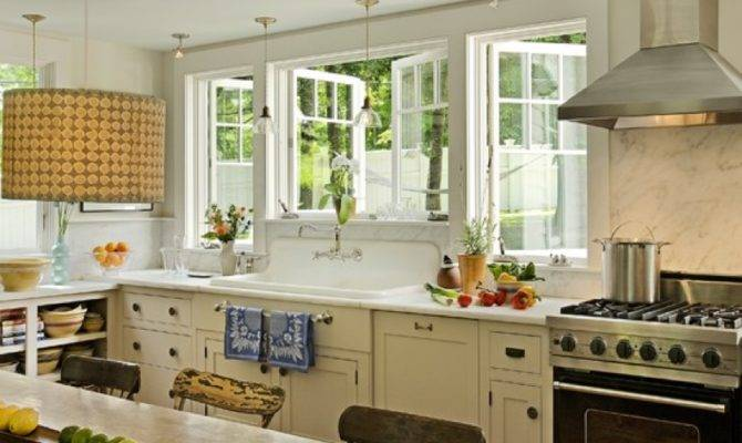 Country Kitchen Wonderful Windows Home Pinterest