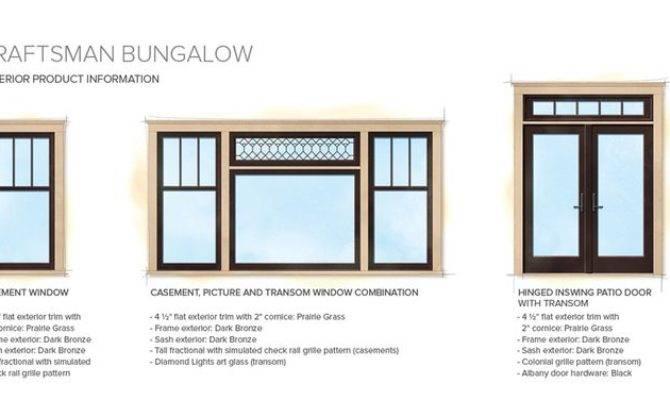 Craftsman Bungalow Home Style Exterior Window Door Details Center