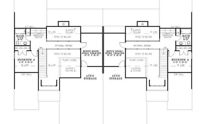 Craftsman House Plan Second Floor Plans More