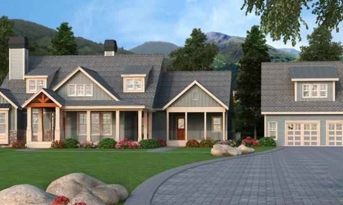 Craftsman House Plans Detached Garage Home Building Plans 3669