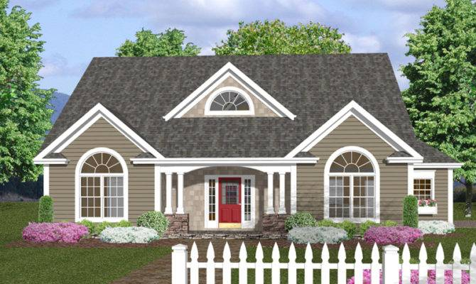 Crandall Cliff One Story Home Plan House Plans More