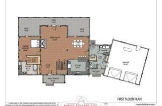 Cross Gable Open Concept Floor Plan