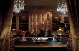 Custom Study Home Office Blends Luxury Classic