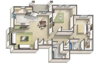 Davis California Apartments Floor Plans Lexington