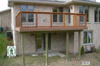 Deck Plan High Medium Single Level Rectangular
