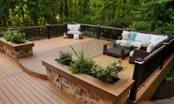 Decks Raised Grade Level Outdoor Design Landscaping Ideas