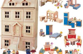 Deluxe Plan Toys Dolls House Set Babipur