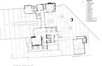 Design Inc Main Floor Plan Diagram Berkeley Courtyard House