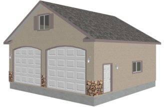 Detached Garage Bonus Truss Plans