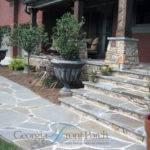 Distinctive Stone Front Porch Steps Walkway