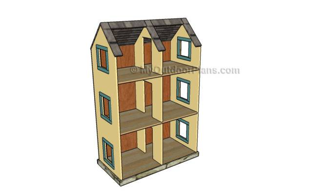 Dollhouse Plans Outdoor Diy Shed Wooden Playhouse Bbq