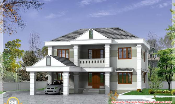 Double Storey Home Design Kerala Floor