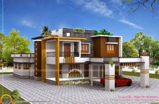 Double Storied Luxury Residence Kerala Home Design Floor Plans