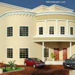 Dubai Arabian House Front Elevation Design Architectural