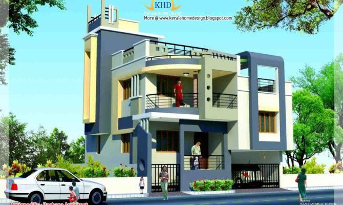 Duplex House Plan Elevation Home Appliance