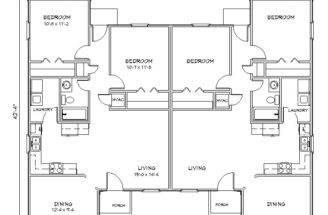 Duplex House Plan Plansource