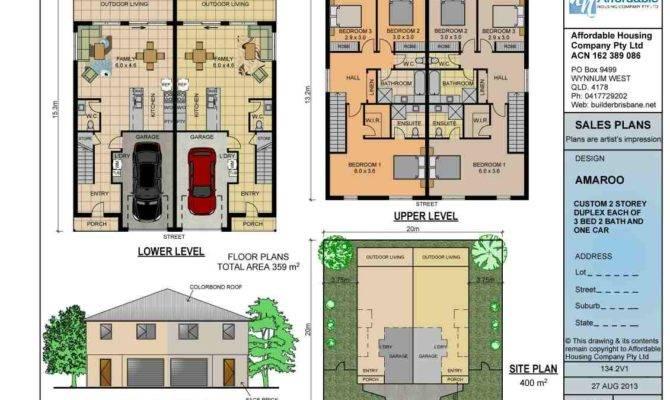 Duplex Plans Home Builders Brisbane Affordable Housing Company