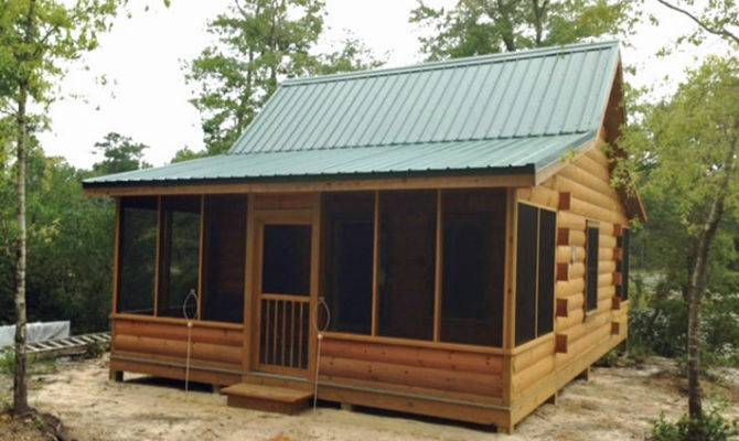 Easy Build Log Home Cabin Kit