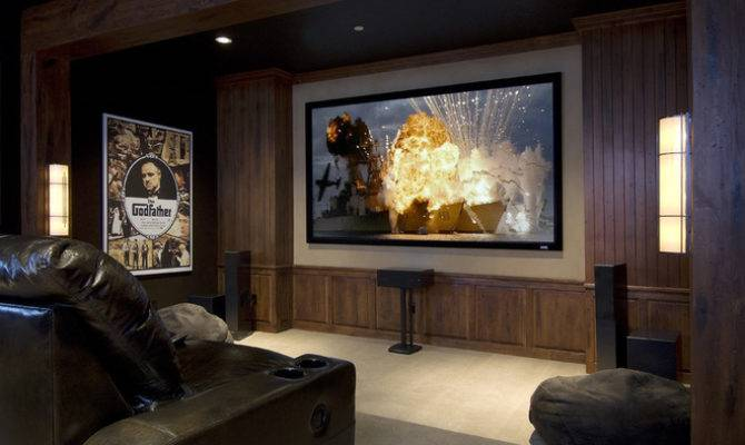 Eclectic Media Room Concept Interior Design Studio