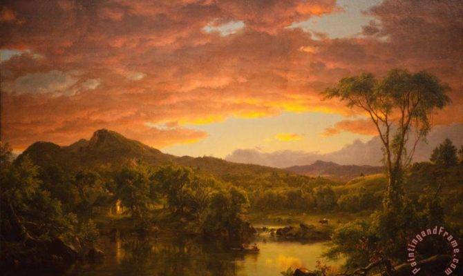 Edwin Church Country Home Painting Print Sale
