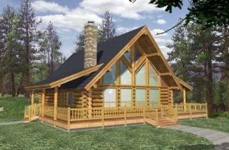 Efficientr Style Log Home Design Coast Mountain