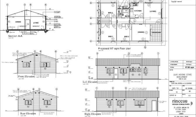 Elevation Plan House Floor Front Duplex