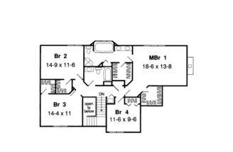 English Cottage House Plan Second Floor Plans