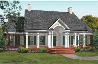 Eplans Adam Federal House Plan Sweet Escape Square Feet