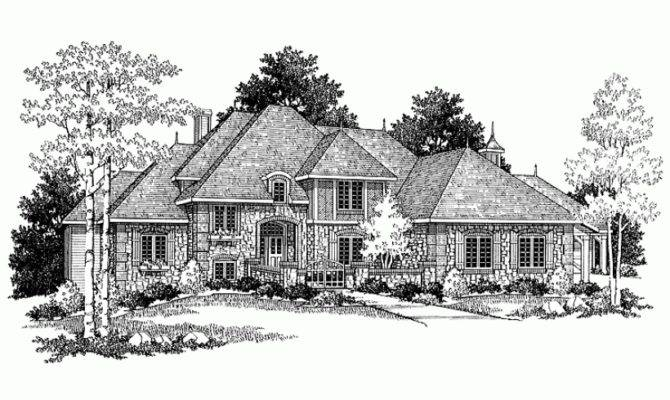 Eplans Chateau House Plan Turn Century Square Feet