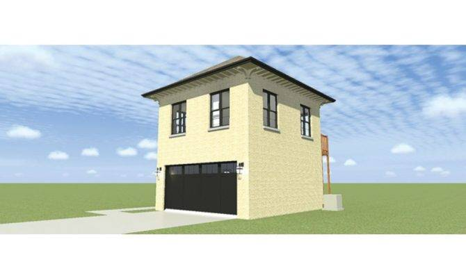 Eplans Colonial Garage Plan Two Bay Bedroom