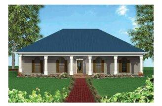 Eplans Country House Plan Large Front Porch Square Feet