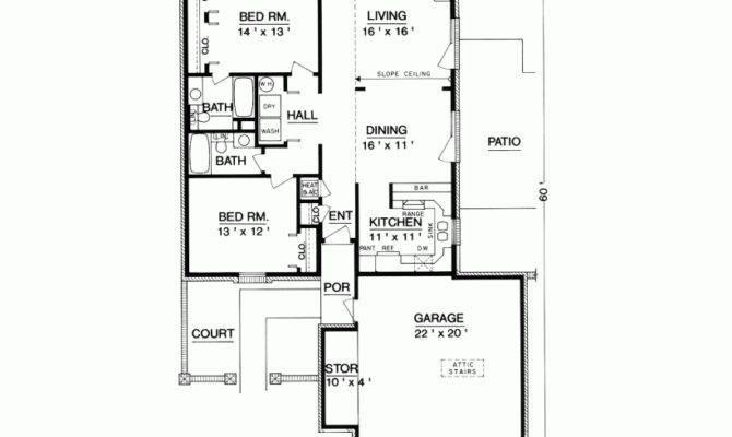 Eplans European House Plan Two Bedroom Square Feet