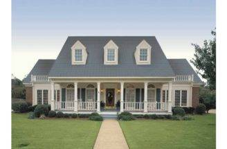 Eplans Farmhouse House Plan Simple Symmetry Square Feet