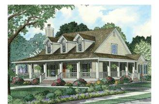 Eplans Farmhouse House Plan Wraparound Front Porch Square