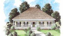 Eplans Low Country House Plan Two Welcoming Porches Square